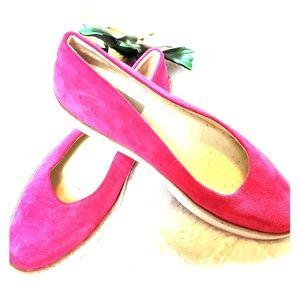 Ugg Pink Suede Slip On Flats